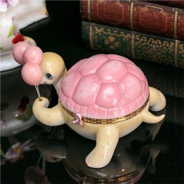 气球海龟陶瓷八音盒音乐盒首饰珠宝盒创意生日礼物送男女生闺蜜珍藏版