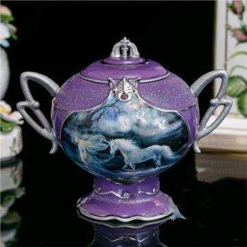 陶瓷八音盒音乐盒首饰珠宝盒创意生日结婚纪念品送老婆女生特别限量版