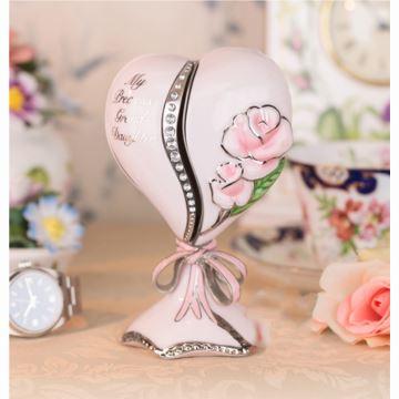 陶瓷玫瑰花束八音盒音乐盒创意生日结婚纪念品送老婆女生浪漫特别