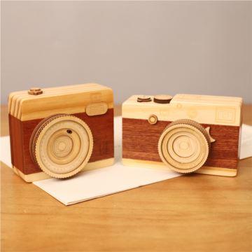 木质相机八音盒音乐盒创意生日毕业礼物送闺蜜男女生特别