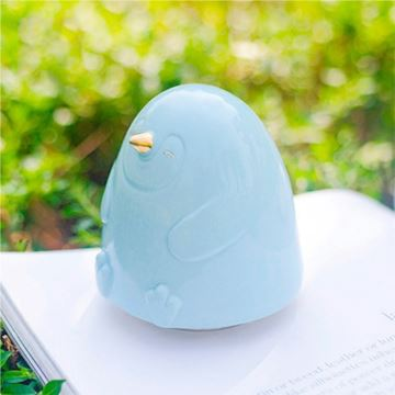 陶瓷企鹅旋转八音盒音乐盒天空之城创意生日情侣情人节礼物送女生特别