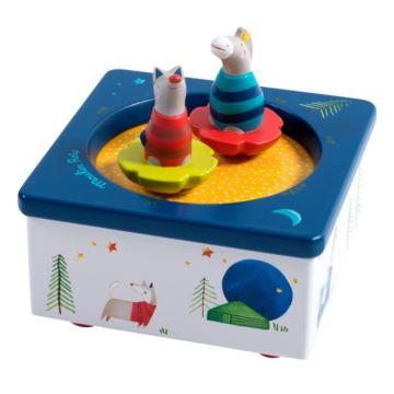 木制玩偶旋转玩具匣八音盒音乐盒创意生日儿童节礼物送男女生特别