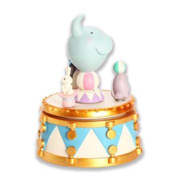 赞尔jarll旋转小象马戏团八音盒音乐盒创意生日礼物送男女生女友特别