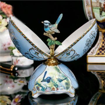 英国陶瓷彩蛋八音盒音乐盒创意生日情人节礼物送男女生母亲节家居摆件