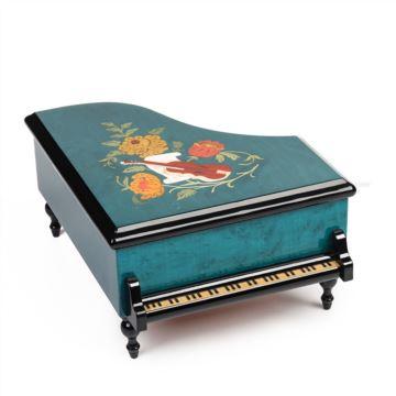 进口Sankyo木质八音盒音乐盒首饰盒七夕情人节创意礼物送老婆女生女友