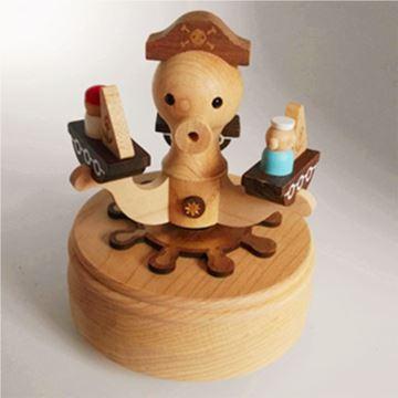 Jeancard台湾木质旋转章鱼八音盒音乐盒创意生日儿童节礼物特别