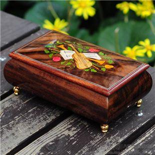 雷曼士木质30音八音盒音乐首饰盒Y30MS2-A创意送女生闺蜜精品礼物精品