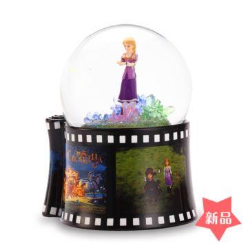 Jarll自飘亮片雪花带灯旋转灰姑娘水晶球八音盒音乐盒创意生日圣诞节礼物