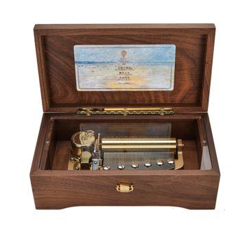 Sankyo进口机芯50音胡桃木八音盒音乐盒创意生日结婚纪念情人节圣诞节礼物