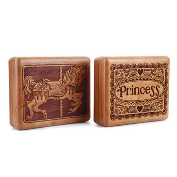 Sankyo高档木质迷你首饰盒八音盒音乐盒创意生日情人节圣诞节礼物