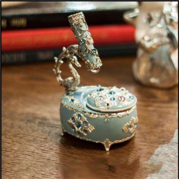 日本进口施华洛世奇水晶万花筒八音盒音乐盒创意生日情人节圣诞节礼物
