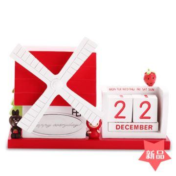 DIY刻字定制旋转风车万年历八音盒音乐盒圣诞节情人节儿童节创意礼物