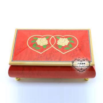 雷曼士18音木质八音盒音乐盒YB8MS2-C卡农创意送女生结婚庆礼物可定制