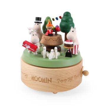 Jeancard噜噜米派对八音盒姆明Moomin音乐盒儿童情人男女生日礼物