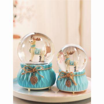 飘雪花彩灯独角兽木马水晶球八音盒音乐盒天空之城创意生日圣诞节礼物