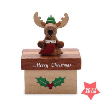 Jeancard台湾迷你款麋鹿八音盒音乐盒圣诞节元旦新年礼物送孩子量版