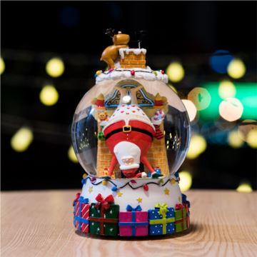 圣诞老人倒了飘雪花水晶球八音盒音乐盒创意生日圣诞新年礼物送女生女友