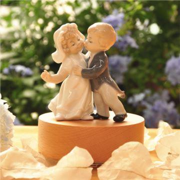 陶瓷与你共舞旋转八音盒音乐盒天空之城结婚情人节创意礼物送老公老婆