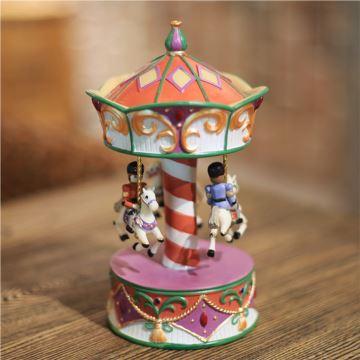旋转木马八音盒音乐盒卡农新年礼物生日创意礼品送儿童女生闺蜜