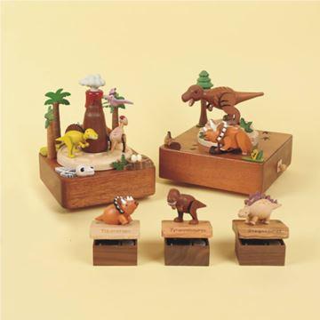 限量Jeancard木质旋转恐龙暴龙迷你八音盒音乐盒创意生日儿童节礼物
