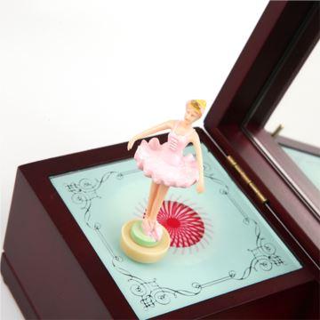 Sankyo木质芭蕾舞女孩旋转八音盒音乐盒创意生日情人节礼物送女生女友