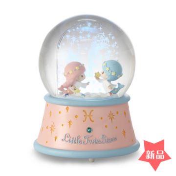 Jarll双鱼座飘亮片雪花水晶球八音盒音乐盒创意生日情人节礼物十二星座