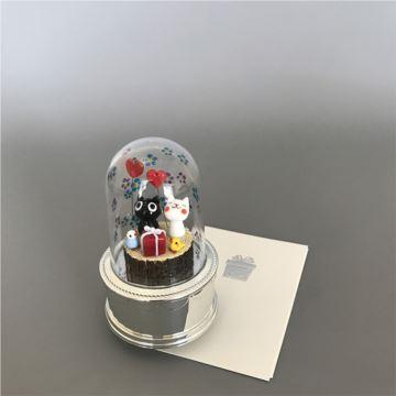 进口小樽旋转猫咪八音盒音乐盒创意生日情人节圣诞节礼物送男女生特别