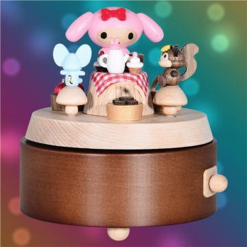 台湾Jeancard枫木旋转花篮八音盒音乐盒卡农创意生日礼物送男女生限量