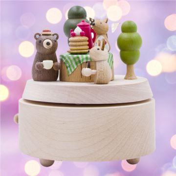 Jeancard台湾木质旋转八音盒音乐盒创意生日情人节礼物送男女生