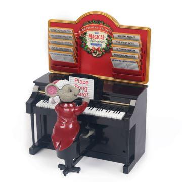 老鼠弹钢琴电子木质八音盒音乐盒创意生日圣诞节礼物送男女生特别