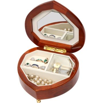 韵升心形拇指首饰盒八音盒音乐盒栢创意生日情人节结婚礼物送女生浪漫
