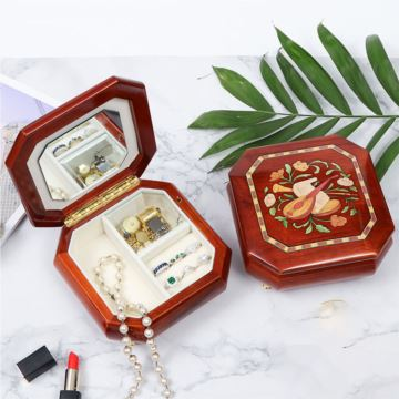 高档木质首饰盒八音盒音乐盒创意生日情人节礼物结婚纪念品送女生老婆