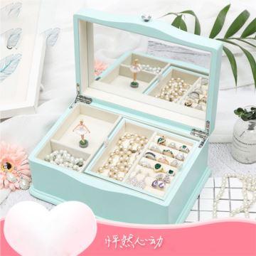 高档木质珠宝盒八音盒音乐盒创意生日情人节结婚礼物送女生老婆浪漫