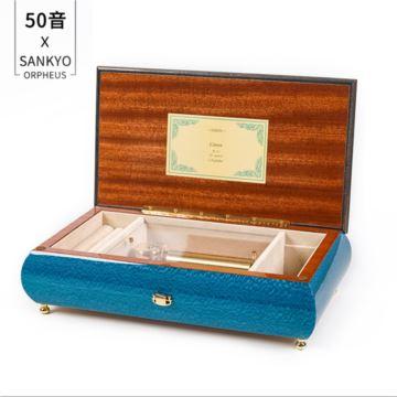 日本Sankyo50音木质八音盒音乐盒首饰盒创意生日新年结婚高端创意礼物