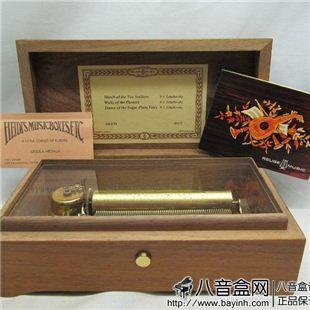 瑞士Reuge72音木质八音盒音乐盒 收藏精品 仅此一件84年产 二手