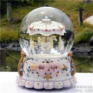 超大号万山旋转木马水晶球音乐盒八音盒送女友生生日圣诞礼物创意礼品