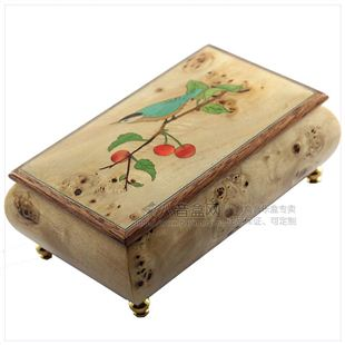 雷曼士木质30音八音盒音乐首饰盒Y30MS2-B创意送女生闺蜜精品礼物摆件