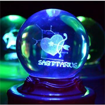 sankyo旋转发光星座水晶球八音盒音乐盒天空之城创意送女生日特别礼物