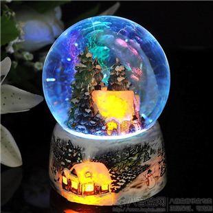 台湾万山下雪屋水晶球八音盒音乐盒创意送男女生日圣诞礼物精品