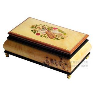 雷曼士18音木质首饰八音盒音乐盒送女生日情人节结婚庆礼物YB8M14B卡农