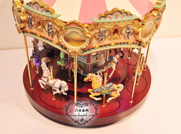 第一次同款进口超大号旋转木马发光八音盒音乐盒创意送女生日礼物12只