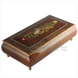 雷曼士木质30音首饰音乐盒八音盒Y30M7创意男送女闺蜜特别生日礼物精品