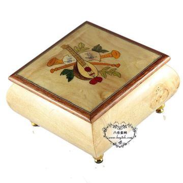 雷曼士木质30音音乐盒八音盒Y30MS1-B创意男送女生日情人闺蜜特别礼物