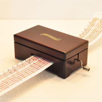 日本进口20音纸带手摇式DIY八音盒音乐盒 创意礼品生日礼物