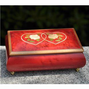 雷曼士木质30音八音盒音乐首饰盒Y30MS2-C创意送女生结婚庆特别礼物精