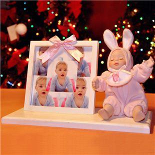 台湾万山18音陶瓷相框摇头娃娃音乐盒八音盒生 天空之城 创意生日儿童礼物