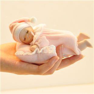 正品台湾万山18音陶瓷布艺趴睡娃娃音乐盒八音盒 天空之城 儿童生日礼物创意礼品