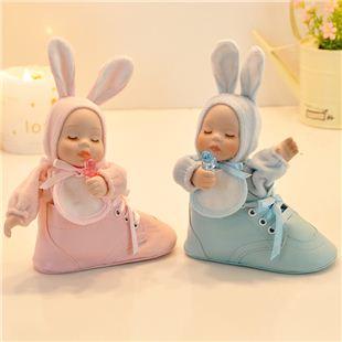 台湾万山WSA18音陶瓷大头鞋摇头娃娃音乐盒八音盒天空之城 送女生日礼物创意礼品实用