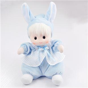 日本Sankyo18音布艺摇头兔娃娃音乐盒八音盒 结婚创意礼物婚庆礼品送女生