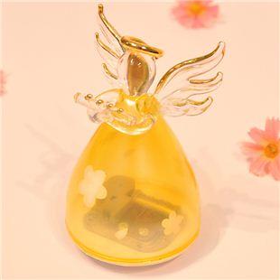 日本Sankyo18音玻璃天使旋转音乐盒八音盒 情人节礼物结婚生日创意礼品送女友